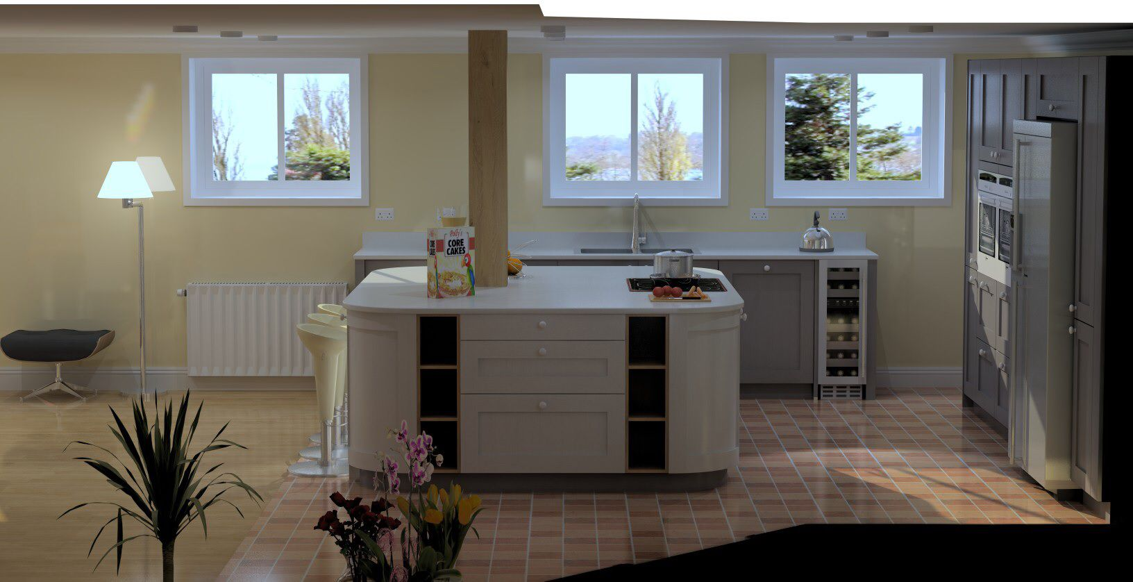 Schuller C Painted Shaker Kitchen Drawn On Compusoft Cad Software Beauteous Kitchen Design Cad Software Design Ideas
