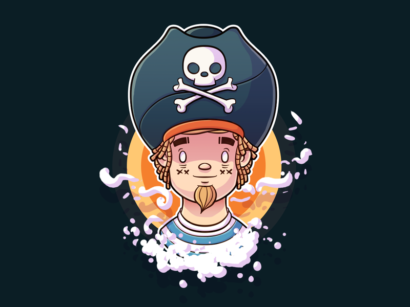 Young pirate character I've doodled some time ago.  Check out attachment for the process! YARR!