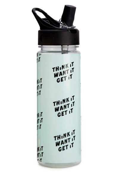 Free shipping and returns on ban.do 'Think It Want It Get It' Water Bottle at…