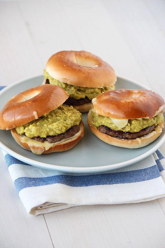 Avocado, Cheese, and Sausage Breakfast Sliders