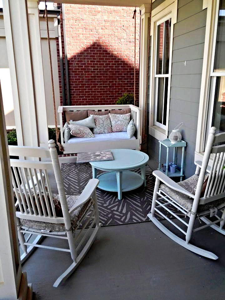 Custom Wood Shabby Chic Porch Swing Bed And Rocking