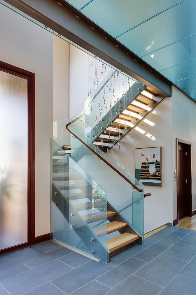 Make a statement in your entry! My clients' stair with ...