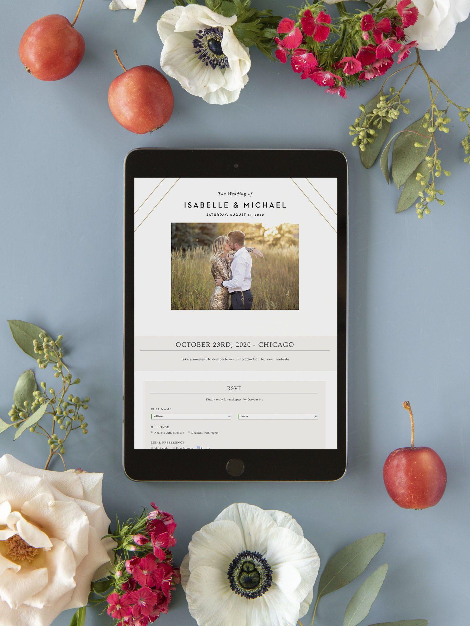 Modern Geometry Wedding Website Free Wedding Website