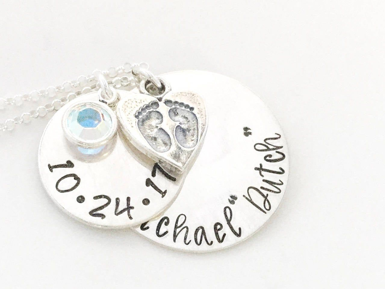 Mothers necklace mom necklace new mom gift push present