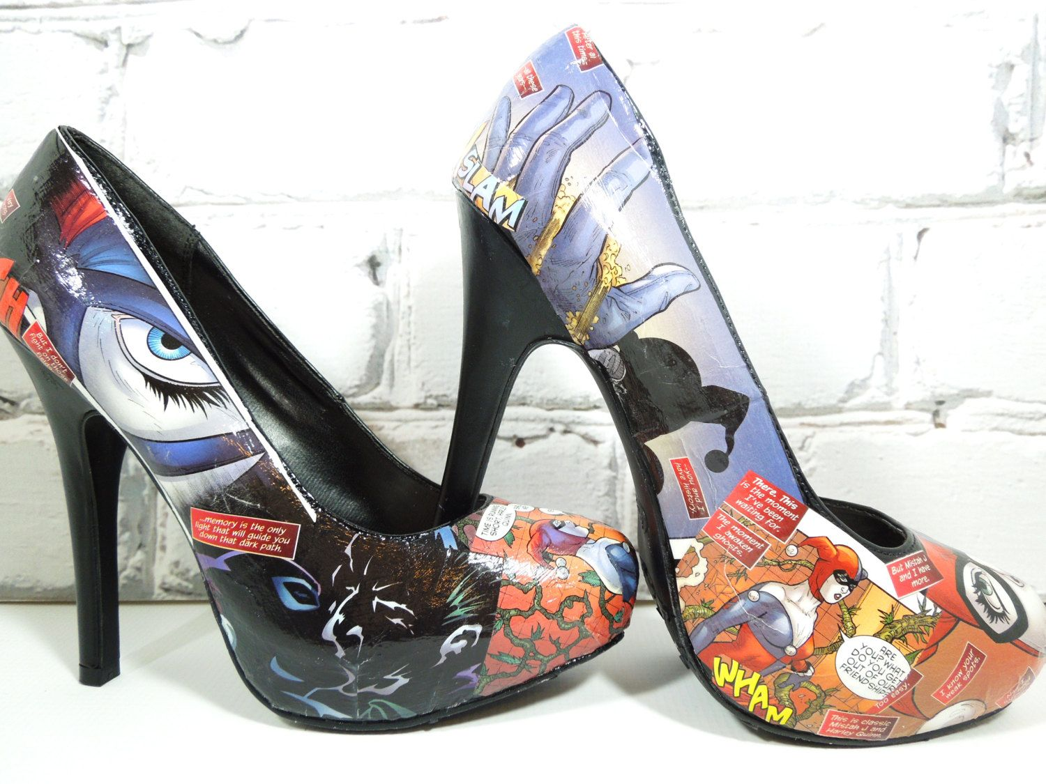 0b634a1d3a62 Just for fun... Harley Quinn and the Joker on my pumps. YAY!