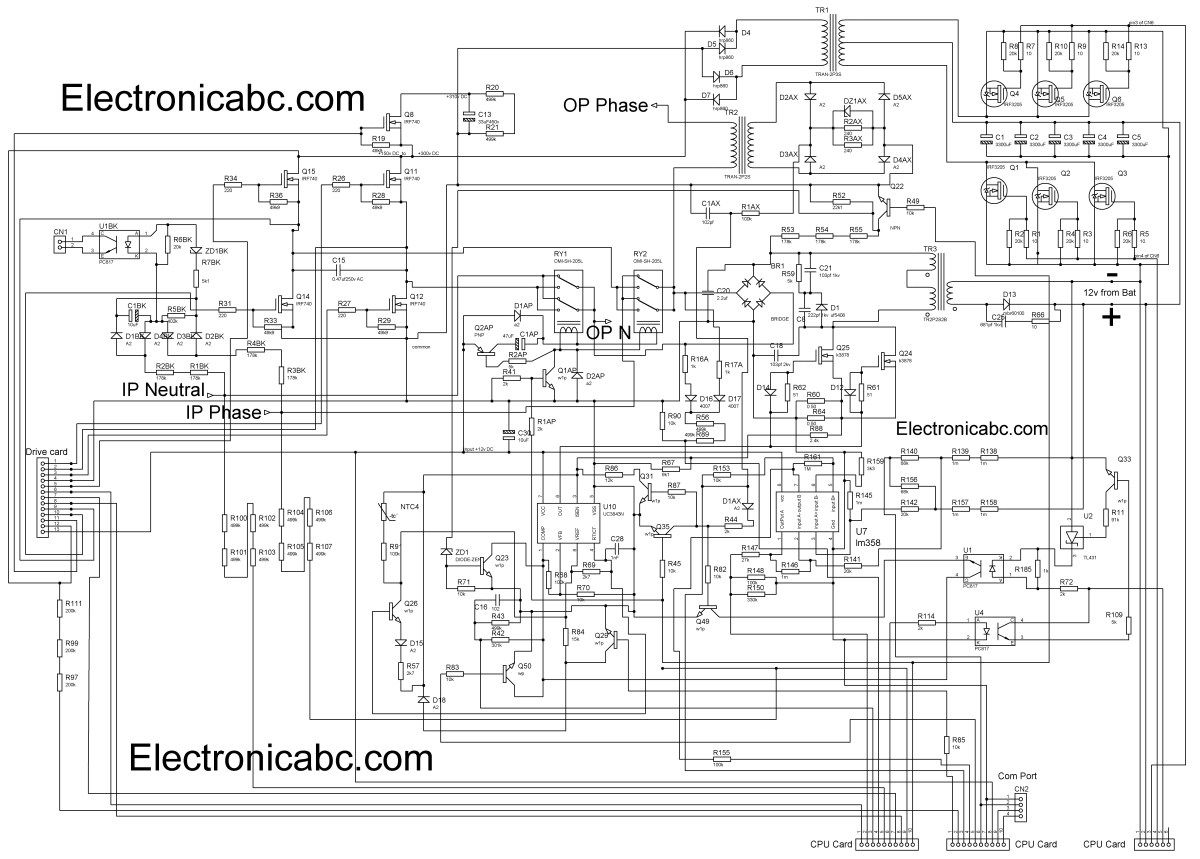 ups wiring diagram 2002 mercury sable homage inverex schematic complete