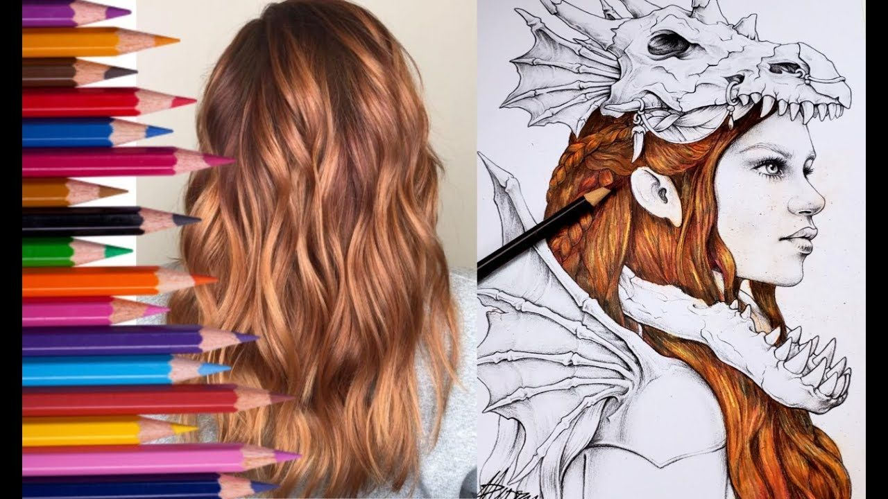 Create Vibrant Strawberry Blonde Hair With Only Four Colored Pencils By Color My World You T Strawberry Blonde Hair Blonde Wedding Hair Strawberry Blonde