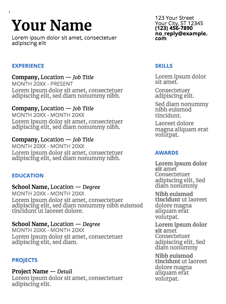 5 Free Resume Templates You Never Knew You Had Glassdoor Blog With Images Simple Resume Template Resume Templates Resume Template Free