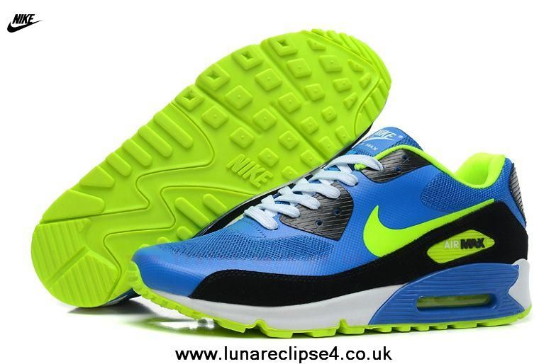 brand new 16727 91b05 Cheap Nike Air Max 90 Hyperfuse Mens Trainers Blue Black Fluorescent Green