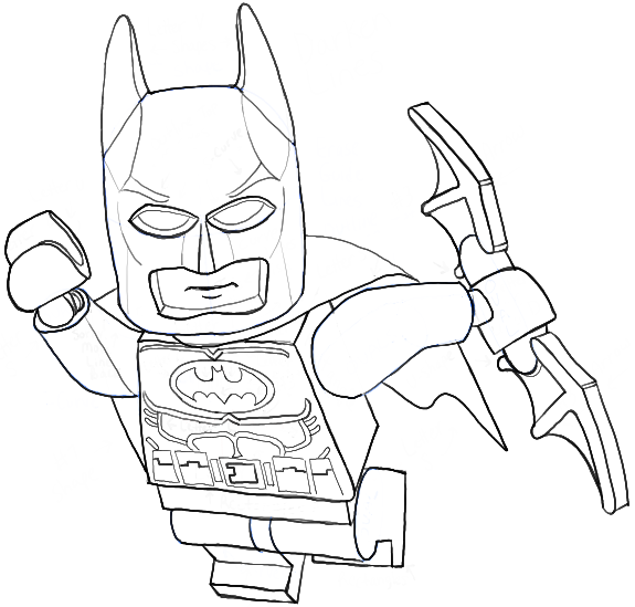 How to Draw Lego Batman Minifigure with Easy Step by Step Drawing ...