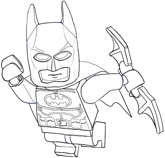 How to Draw Lego Batman Minifigure