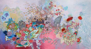 """Lia Porto; Acrylic 2012 Painting """"Suave y blando corazón"""""""