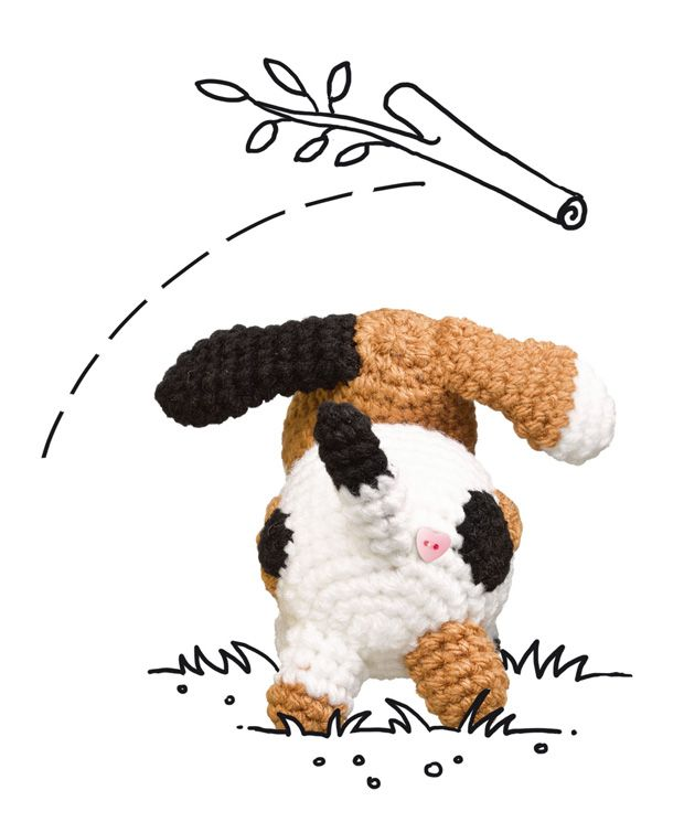 Häkelmuster: Hund häkeln - so geht\'s!   Hund häkeln, Häkelmuster und ...