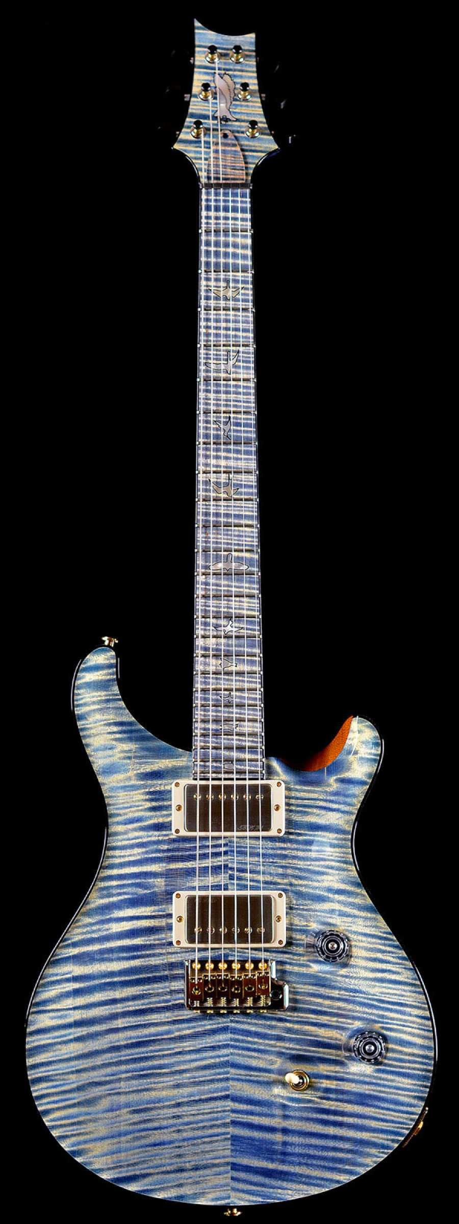 PRS Private Stock PS6151 Flame Custom 24 Stained Flame Maple Neck and Fretboard Triple Faded Indigo #prsguitar