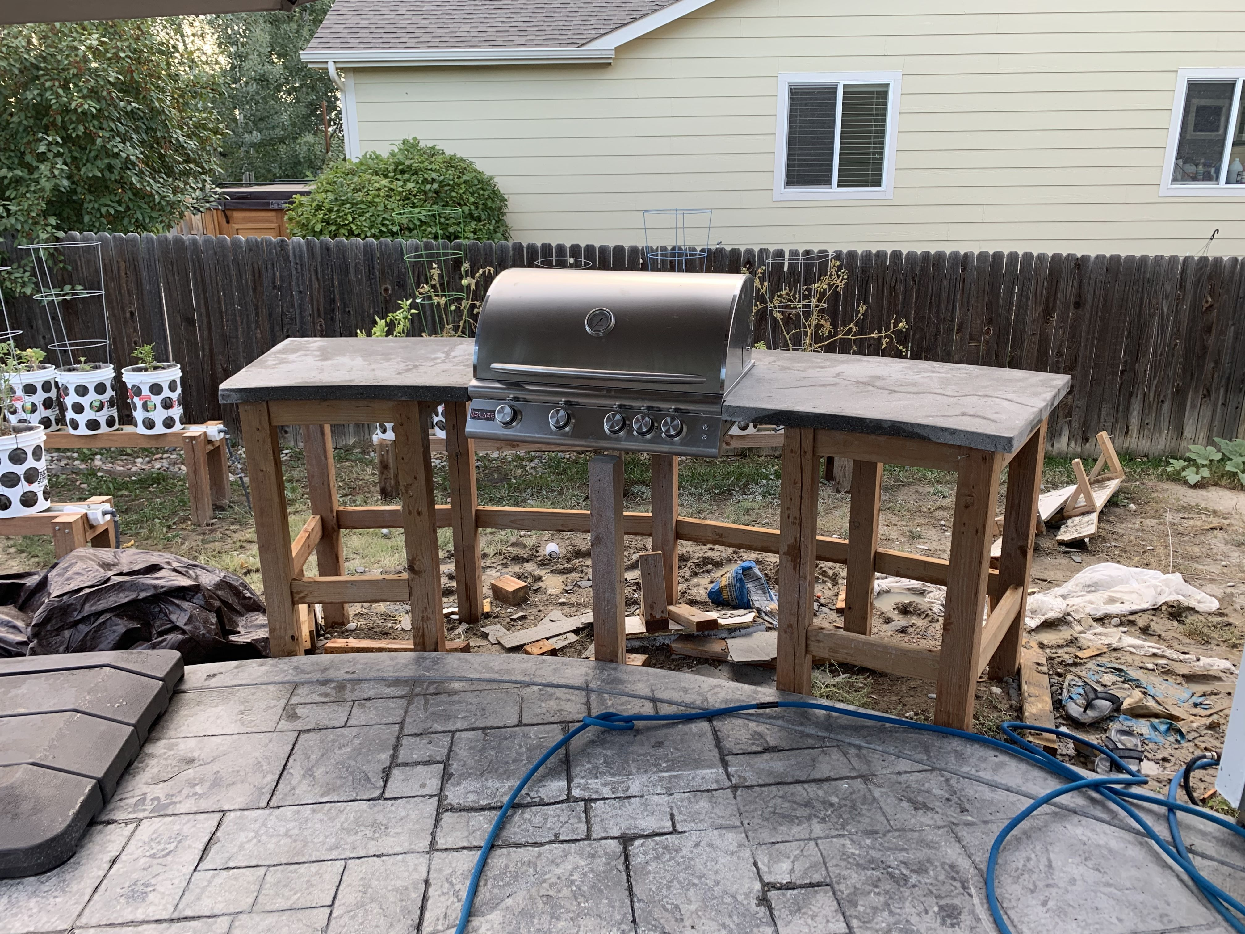 Outdoor Kitchen Island Build With Built In Grill Outdoor Kitchen Island Patio Projects Built In Grill