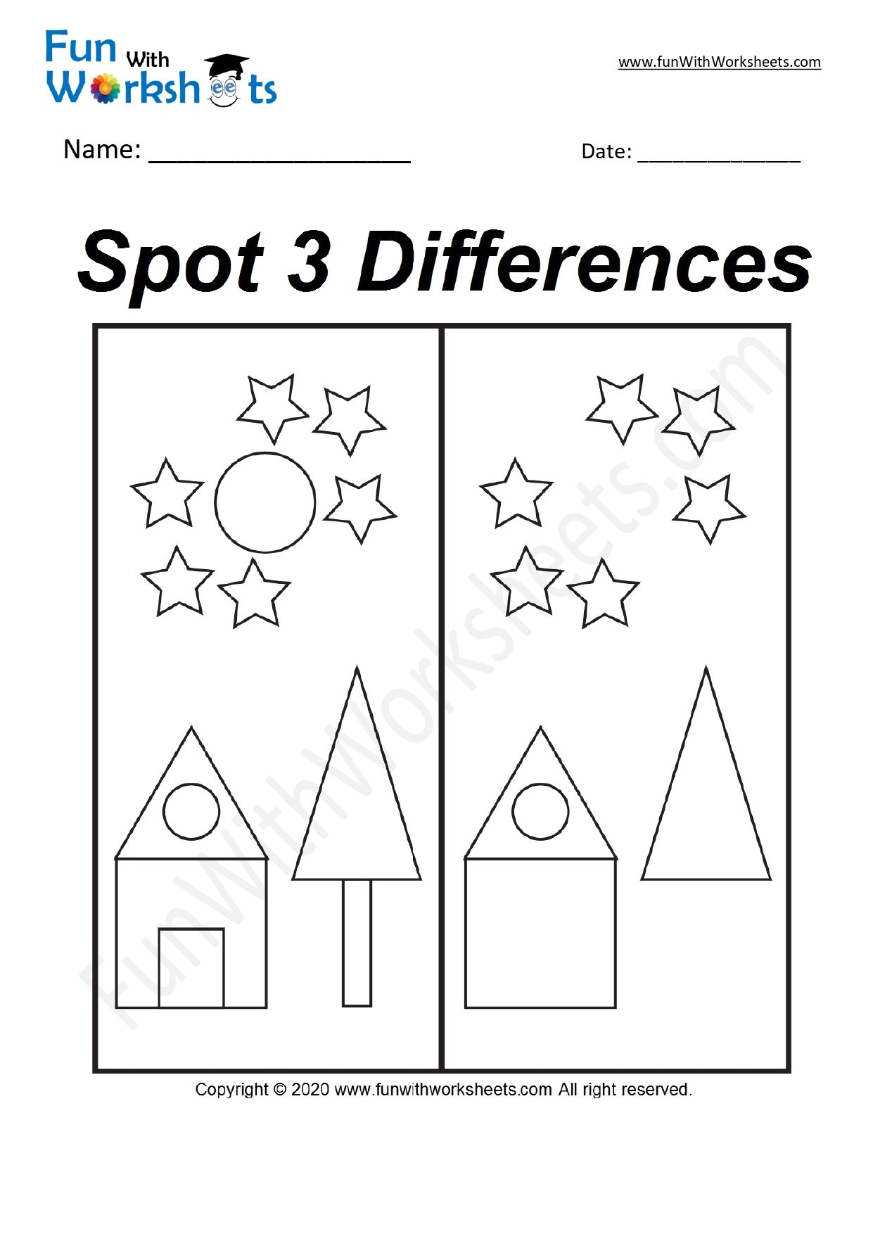 Pin On Spot The Difference