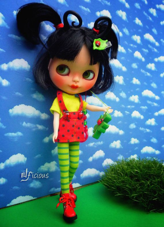 Ooak Custom Blythe doll Miss by ELFiciousShop