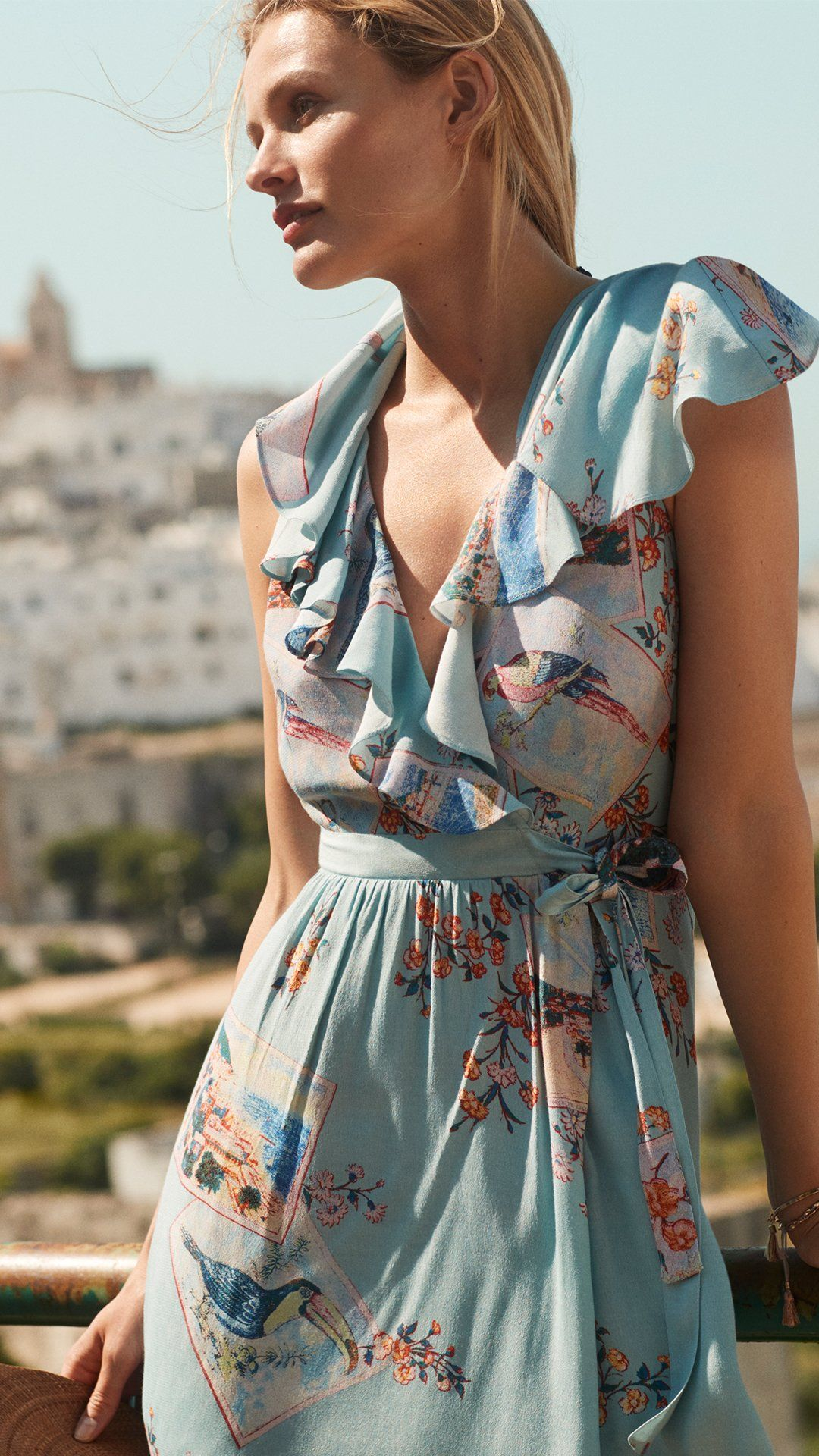 367dd5ef34a4c Rosalia Wrap Dress in 2019 | Short Dresses | Wrap dress floral, Wrap ...