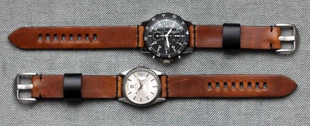 worn wound model 1 horween watch strap watch accessories