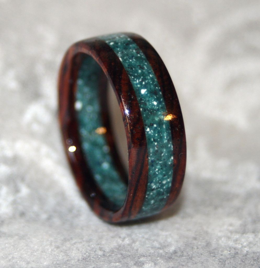 Cocobolo Rosewood and Corian Ring | Flickr - Photo Sharing!