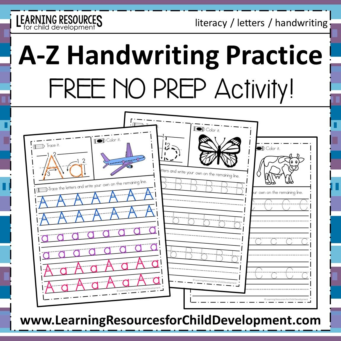 AZ Handwriting Practice Handwriting practice free