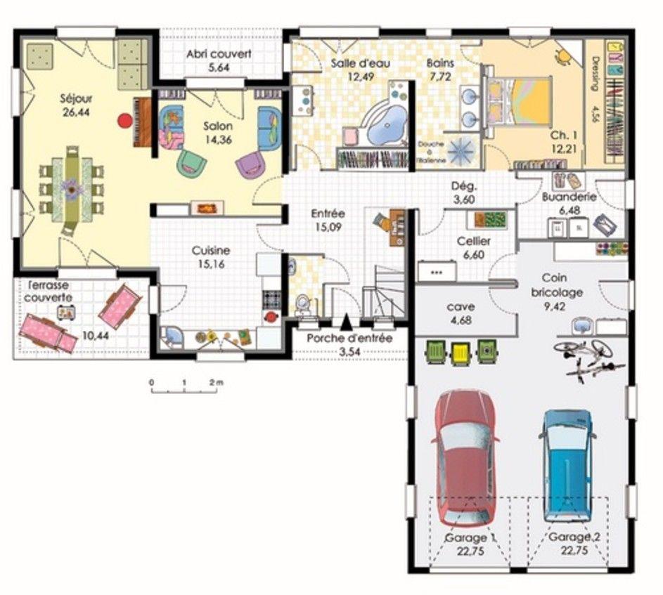 Plan maison moderne plain pied gratuit jpg 943x847 plans maison pinterest