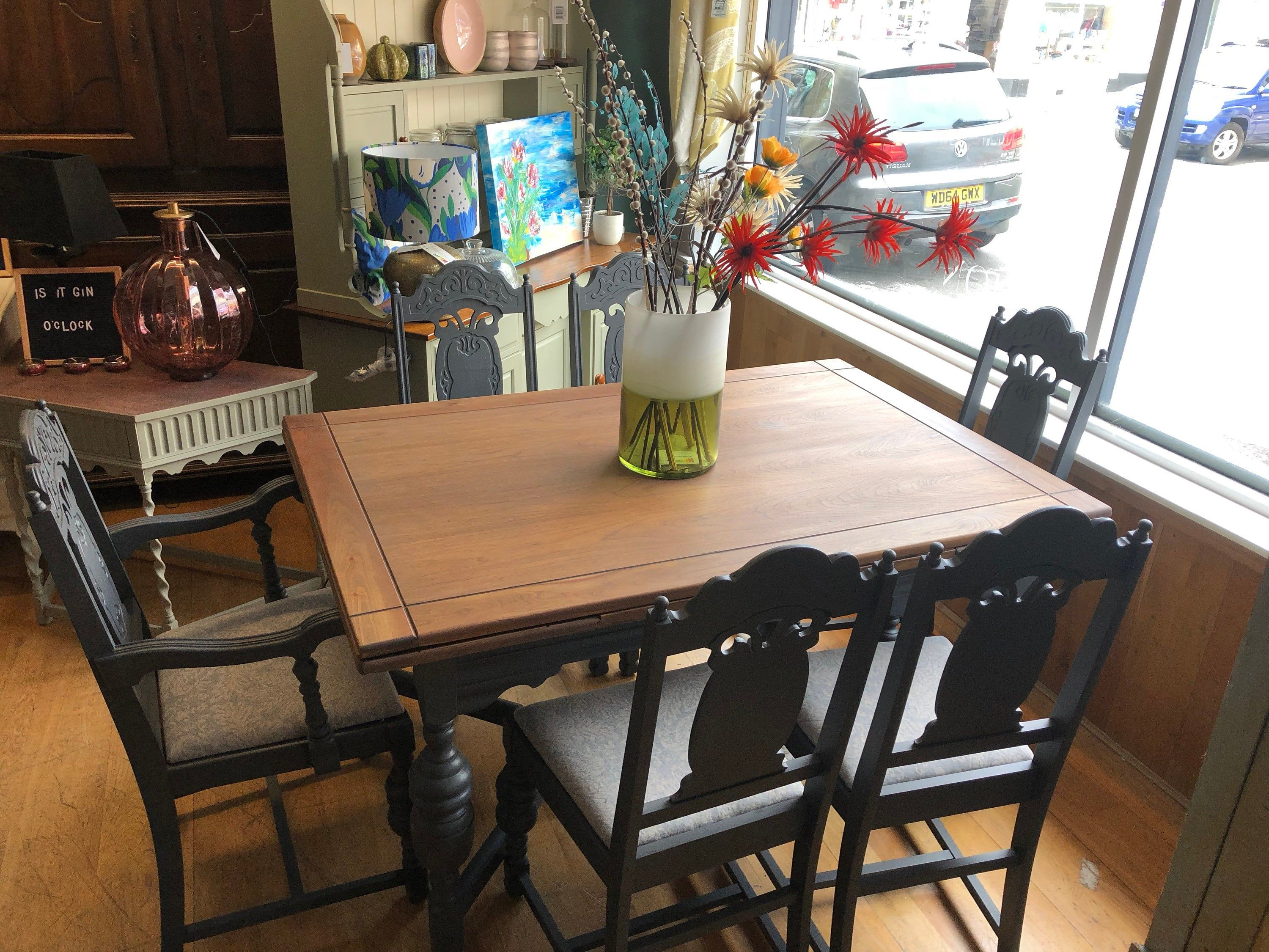 Large Extending Dining Table And 6 Chairs Dining Table