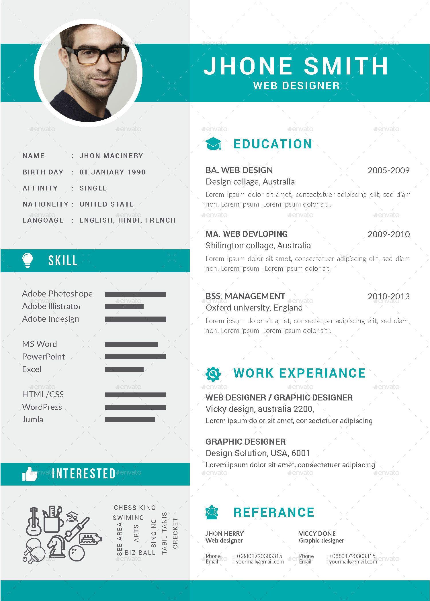 Resume Cv Bundle Resume Cv Bundle Resume Cv Resume Design Creative Free Cv Template Word