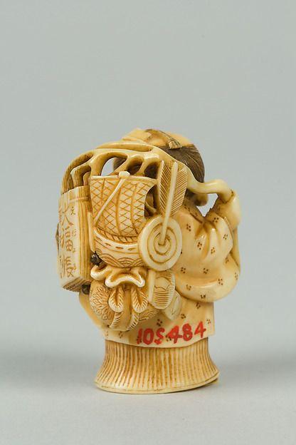 Netsuke Date 18th Century Culture Japan Medium Ivory Dimensions H 1 3 4 In 4 4 Cm Classification Netsuke Netsuke Japan Bone Carving
