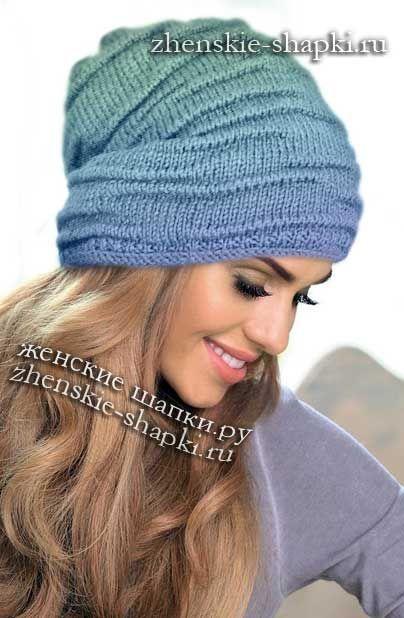 Вязаные женские шапки 2018 осень, зима, вена с описанием