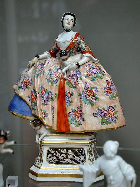 Hard-paste porcelain figure of a member of the Order of the Pug, modelled by J. J. Kändler, made at the Meissen porcelain factory, Germany, ca. 1744–1745.