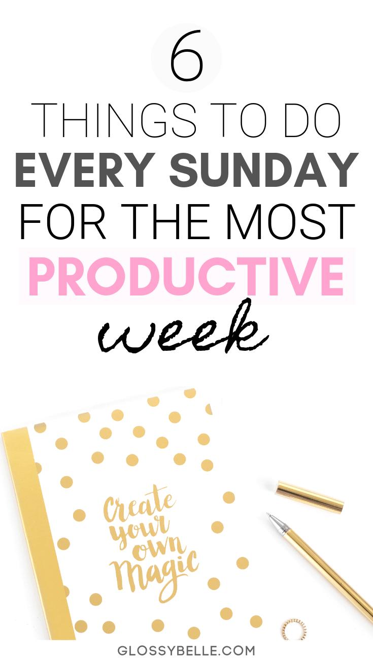 6 Ways To Start The Week Off Right Every Sunday Organizacja Zycie I Perfume