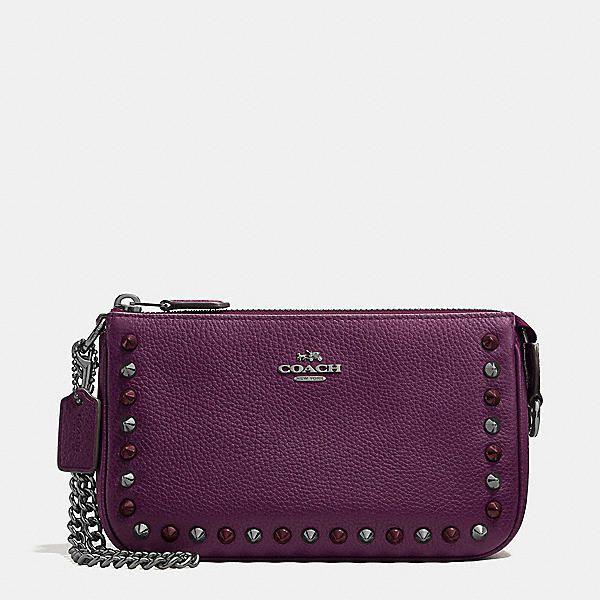Outline Studs Nolita Wristlet 19 in Leather