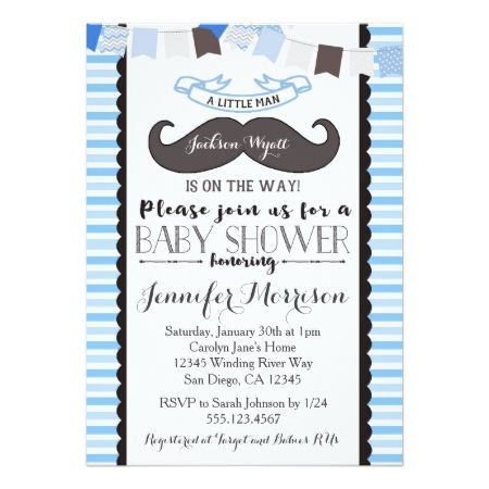 Little man mustache baby shower invitation shower invitations and little man mustache baby shower invitation clicktap to personalize and buy babyshower filmwisefo