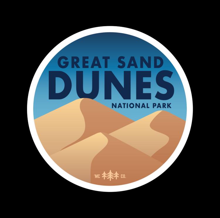Great Sand Dunes National Park - Sticker