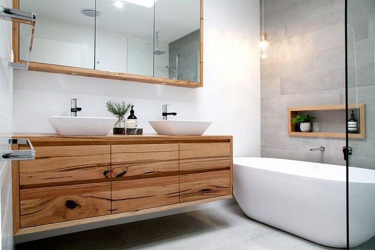 20 Awesome Small Wooden Vanity Ideas Modern Bathroom Wooden Bathroom Vanity Bathroom Design Small Wooden Vanity