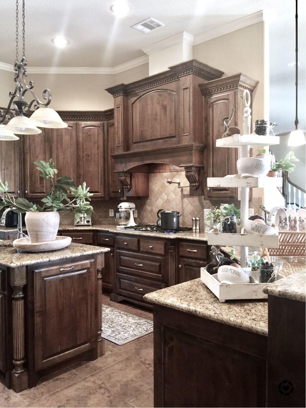 Kitchen design pinoftheday homedecor house houseplants houseideas also brown cabinet designs for  warm natural look rh pinterest