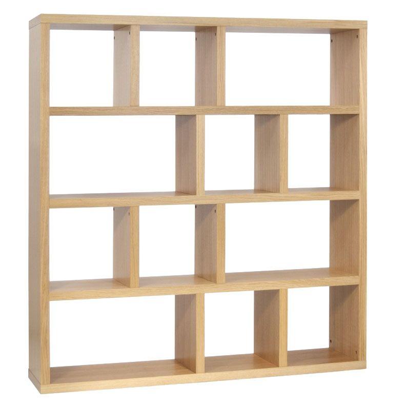 Temahome Berlin 4 Level Modern 59 Oak Shelf Eurway Oak Shelves Contemporary Shelving Unit Shelves