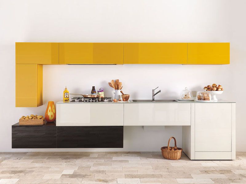 MODULAR FITTED KITCHEN WITHOUT HANDLES 36E8 COLLECTION BY LAGO | DESIGN DANIELE LAGO
