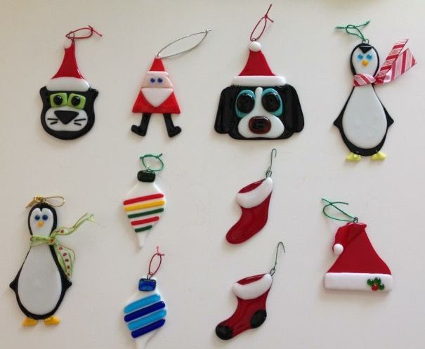 Image Result For Fused Glass Christmas Ornament Patterns Glass