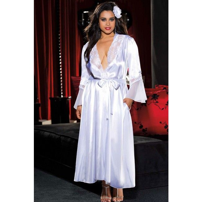 Keona Plus White Robe X20559