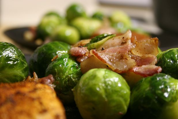 Brussel Sprout Recipes Roasted Balsamic Vinegar Bacon