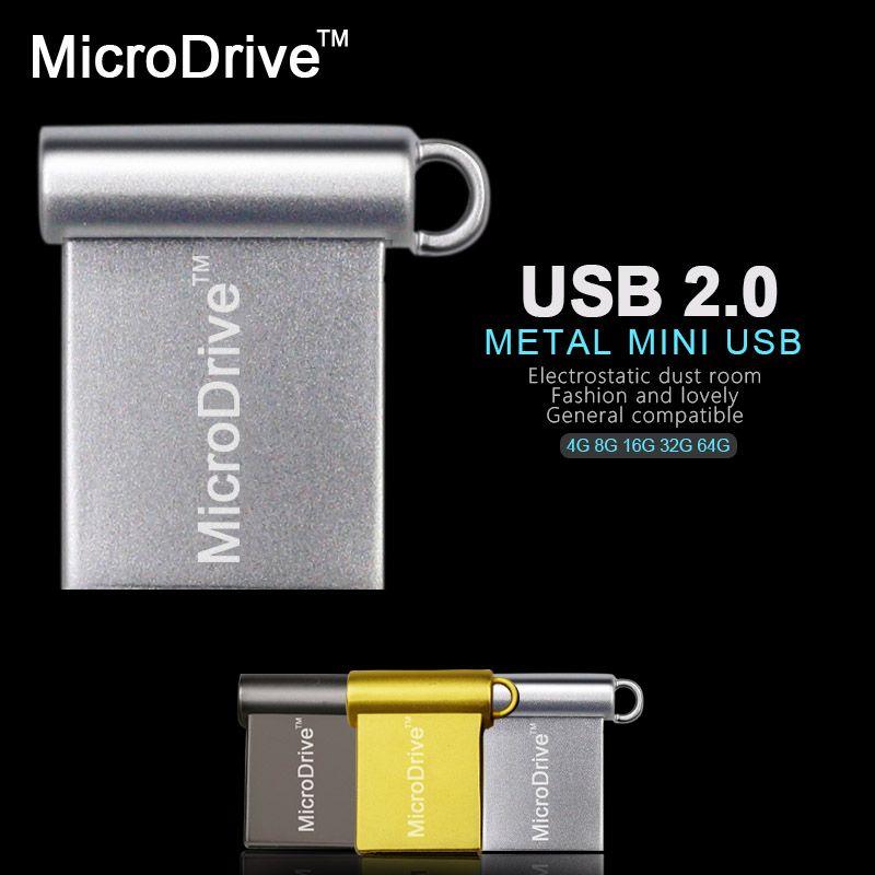 Mini USB Flash Drive 8GB 16GB 32GB 64GB PC//Car USB Memory Stick Metal Pen Drive