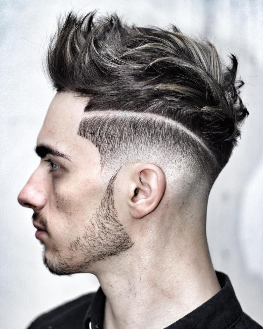 ryancullenhair_and hair design + fade textured quiff hairstyle