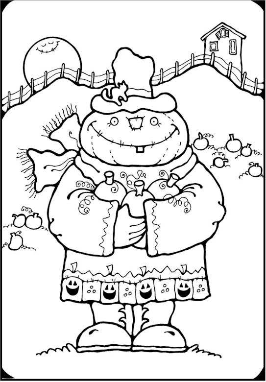 Free Halloween Coloring Pages | Autumn and Halloween Activities ...