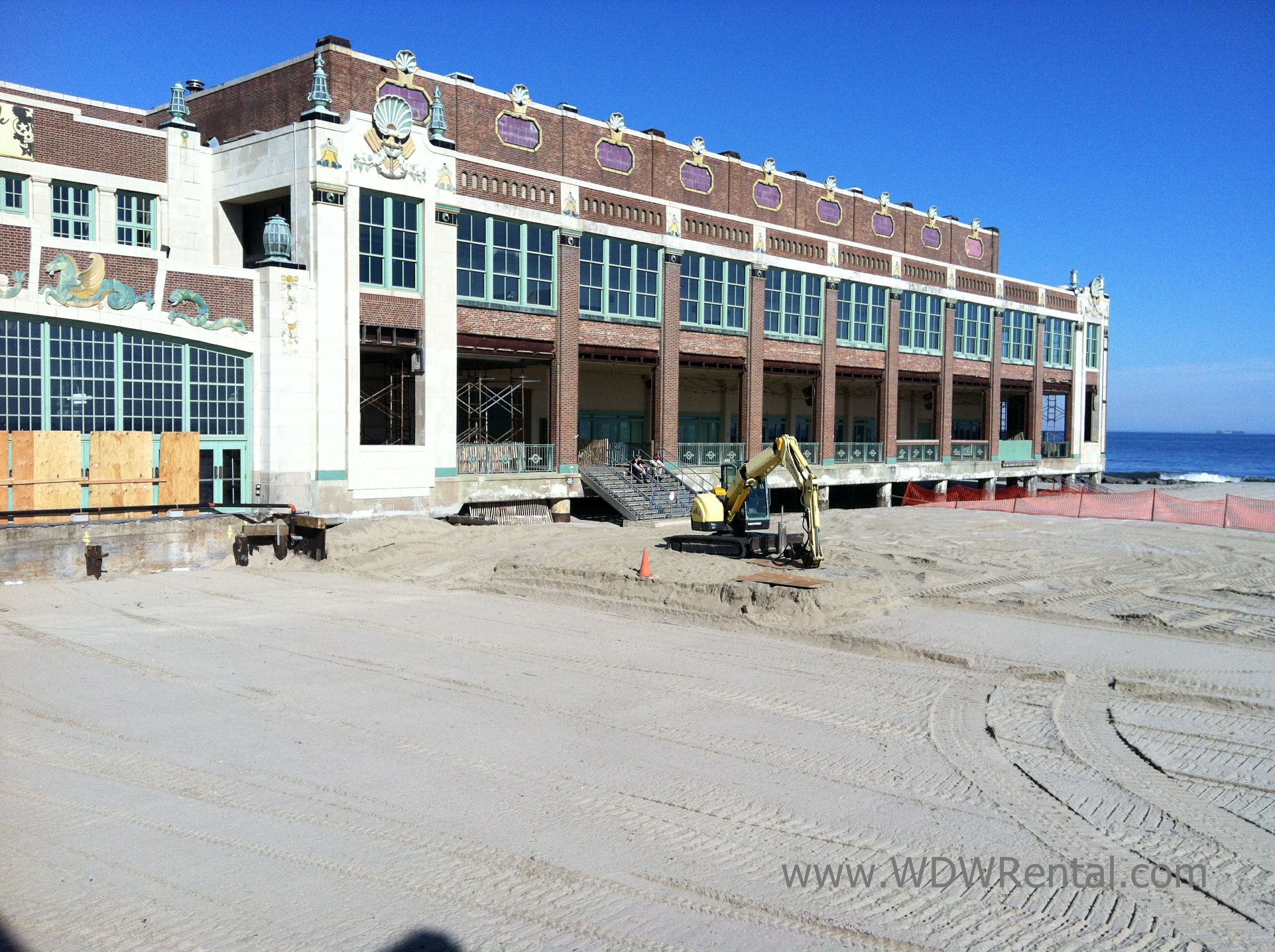 wedding venues asbury park nj%0A Convention Hall  Asbury Park  New Jersey  After Sandy With No Boardwalk