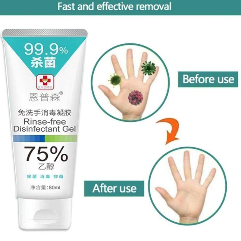 80ml portable antibacterial hand sanitizer disposable