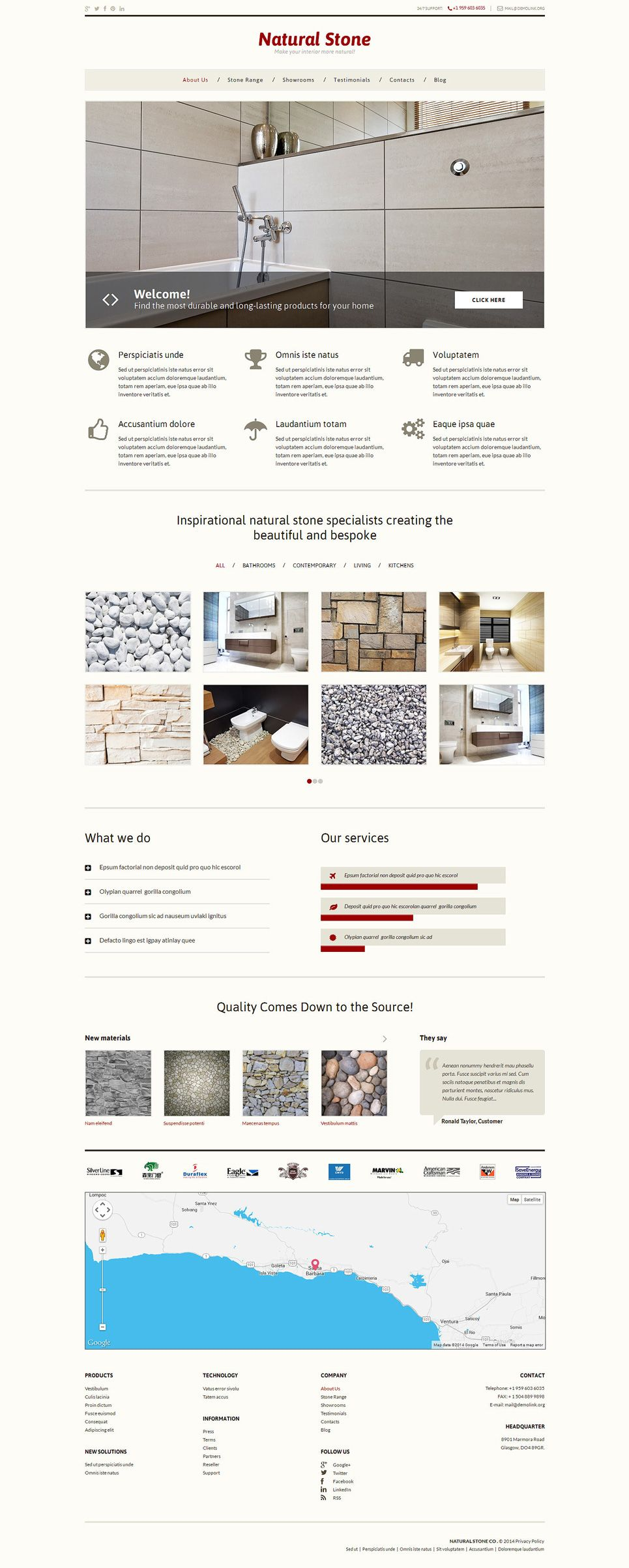 Stone Decor Wordpress Theme #Decor #Stone #Theme