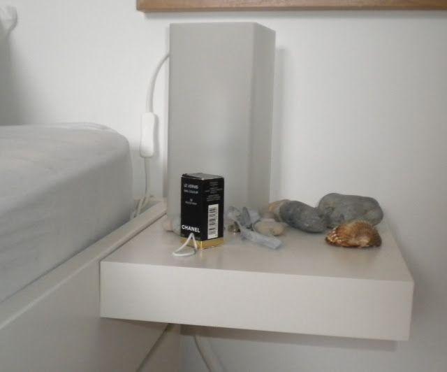 Brimnes Bed With Lack Shelf As Bedside Table Ikea Lack Shelves