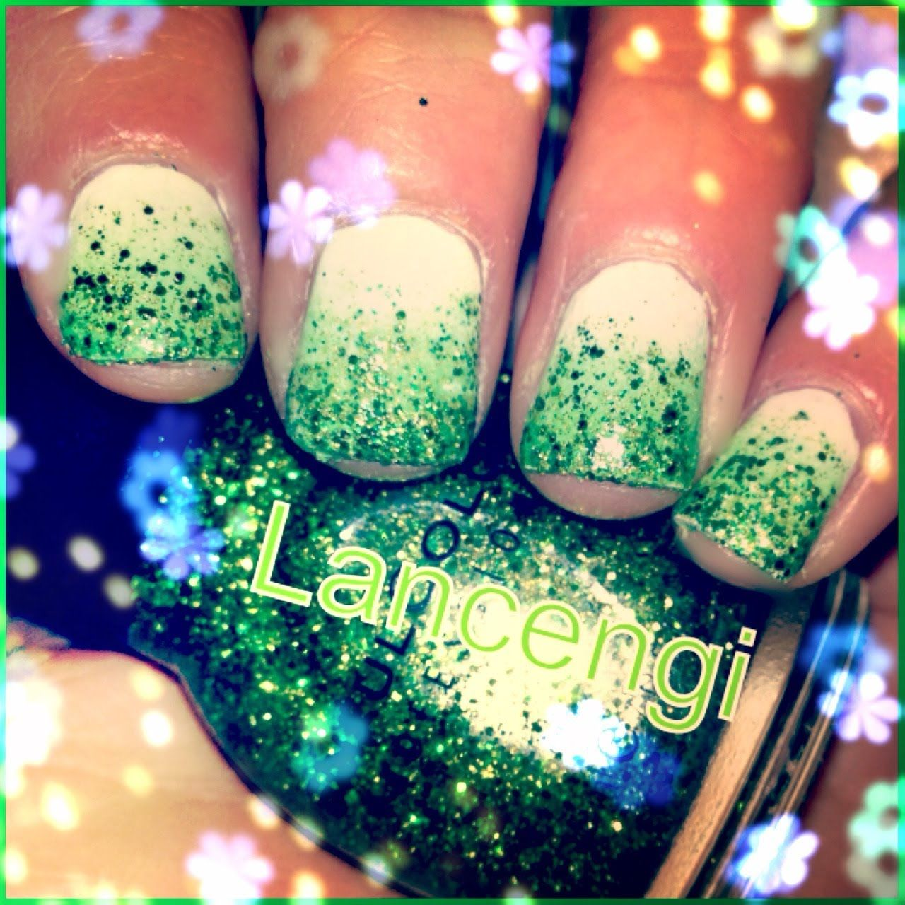 Christmas Nails Tutorial Youtube: Easy Nail Art: Tutorial On A March Saint Patrick's Day
